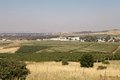 Galilee landscape with cultivation and the border from israel and syria in the background Stock Images