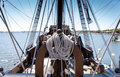 Galleon Ship Rope Royalty Free Stock Photo
