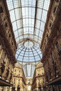 Galleria vittorio emanuele ii classical magnificent shopping area there are many bar and senior restaurant the corridors are cross Royalty Free Stock Photography