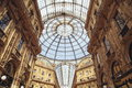 Galleria vittorio emanuele ii classical magnificent shopping area there are many bar and senior restaurant the corridors are cross Stock Images