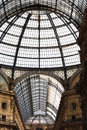 The galleria vittorio emanuele ii historical arcade milan lombardy italy is a covered arcade Stock Images