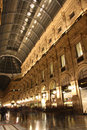 Galleria vittorio emanuele ii in milan at night interior of the famous one of the world s oldest shopping malls italy designed Stock Images