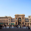 Galleria vittorio emanuele ii milan view of Stock Photo
