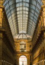 Galleria Vittorio Emanuele interior Royalty Free Stock Photo