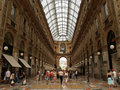 Galleria Vittorio Emanuelle in Milan Stock Images