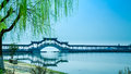 Gallery bridge in spring at jinxi Royalty Free Stock Images
