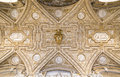 Gallery ceiling at the Vatican Museum in the Vatican City, Rome Royalty Free Stock Photo