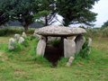 Gallery grave in brittany at ile grande france Stock Photography