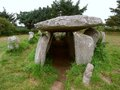 Gallery grave in brittany at ile grande france Royalty Free Stock Photography