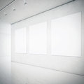 Gallery interior with blank picture frames Royalty Free Stock Photo