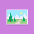 Gallery picture flat design icon vector illustration Royalty Free Stock Photography