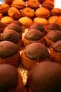 Galletas Ball-shaped del chocolate Imagen de archivo libre de regalías