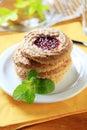Galletas de la torta dulce Fotografía de archivo