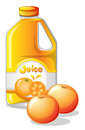 A gallon of orange juice illustration on white background Stock Photography