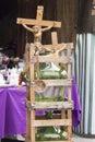 Gallons seen on flea market italian presents and crucifix Royalty Free Stock Photos