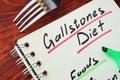 Gallstones diet.