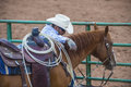 Gallup indian rodeo new mexico august cowboy participates at the nd annual in nm on august Royalty Free Stock Images