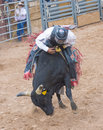 Gallup indian rodeo new mexico august cowboys participates in a bull riding competition at the nd annual in nm on august Royalty Free Stock Photos