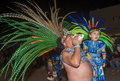 Gallup inter tribal indian ceremonial new mexico aug aztec dancer with traditional costume participates at the annual night parade Stock Images