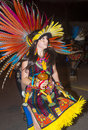 Gallup inter tribal indian ceremonial new mexico aug aztec dancer with traditional costume participates at the annual night parade Royalty Free Stock Image