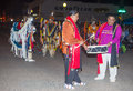 Gallup inter tribal indian ceremonial new mexico aug native americans with traditional costume participates at the annual night Stock Photos
