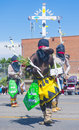 Gallup inter tribal indian ceremonial new mexico august apache dancers with traditional costume participates at the annual parade Stock Image