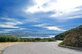 Gallura winding road Royalty Free Stock Images