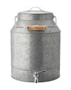 Galvanized Beverage Dispenser with clipping path Royalty Free Stock Photo