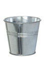 Galvanized metal bucket isolated on a white background Royalty Free Stock Image
