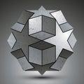 Galvanized Spherical 3d Object...