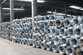 Galvanized steel wire coils in factory Royalty Free Stock Photo