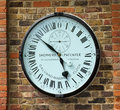 Galvano magnetic precision clock at greenwich observatory in london uk Royalty Free Stock Photo