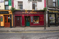 Galway ireland march street scene with quaint old shops in this historic city dates back to the s Royalty Free Stock Photography
