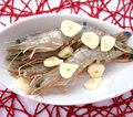 Gambas some fresh with spices Royalty Free Stock Image