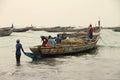 Gambian fishing boats