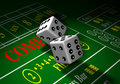 Gamble-dice Stock Photography