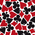 Gamble wallpaper seamless poker card suit pattern Stock Photography