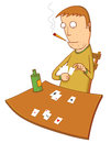 Gambler illustration of a playing cards available in vector eps file Stock Photography