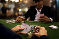 The gambler used psychology by adding bets for threatening rival Royalty Free Stock Photo