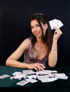 Gambler wins Royalty Free Stock Image