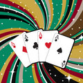 Gambling cards Royalty Free Stock Photography