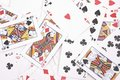 Gambling cards background Royalty Free Stock Images