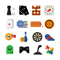 Gambling casino games flat icons set Royalty Free Stock Photo