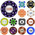 Gambling chips Royalty Free Stock Photo