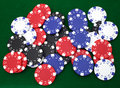 Gambling chips background Stock Photography