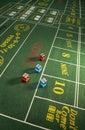 Gambling - Craps Table Royalty Free Stock Photo