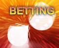 Gambling dice betting background Royalty Free Stock Photo