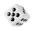 Gambling dice isolated on a white background Royalty Free Stock Photography