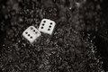Gambling dices under the rain close up Royalty Free Stock Photography