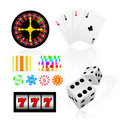 Gambling icon set Royalty Free Stock Image